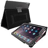 Schutzhülle iPad Air 2, Snugg ™–Schutzhülle schwarz Leder, Stil Smart Case Apple iPad Air 2