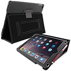 Snugg Leather Case with Flip Stand for Apple iPad 3/4 (Black)