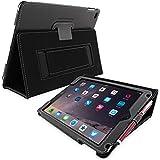 Étui iPad 3 & 4, Snugg™ - Housse de Protection en Cuir Noir, Style Smart Case Avec Garantie à Vie Pour Apple iPad 3 et iPad 4