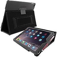 Snugg iPad Air Caso (Nero), Copertina in Ecopelle Intelligenti, Rivestimento Interno di Qualità in Nabuk, Supporto Flip-stand con una Garanzia a Vita per Apple iPad Air