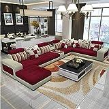 XIAOSUNSUN Combinación de sofá de Tela en Forma de U Simple y Moderno extraíble y Lavable,2