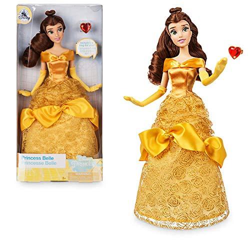 Offizielle Disney 30cm Prinzessin Belle Klassische Puppe mit Ring