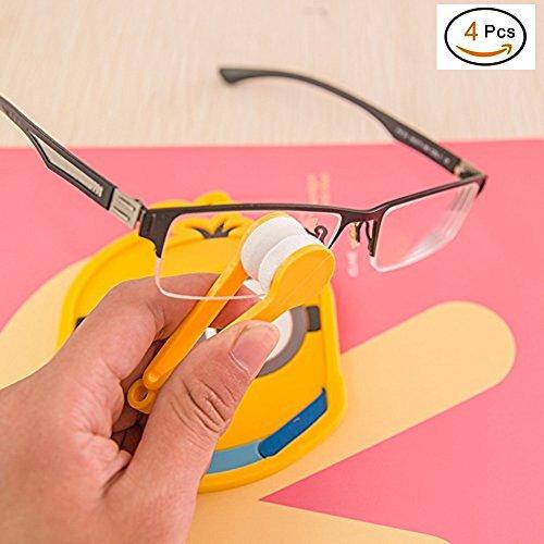 EQLEF® 4 Pcs-Multifunktions Tragbare Mikrofaser-Objektiv-Reinigungswischer für Glas-Brillen Sonnenbrillen