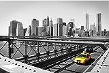 Zopix Premium Poster (XXL) New York Taxi Schwarz-weiß Stadt Wandbild - 91x61 cm (versch. Größen) - 190g Premium-Papierdruck - Inklusive Poster-Stripes