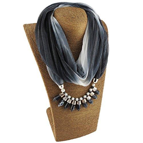 S.Self-My Halsketten Anhänger Hat Die Farbe Trend Damen Des Kosmetischen Tinte Schwarz 175 Cm Multipliziert Schals (Dye Element Tie)