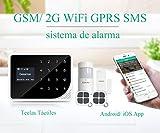ERAY M2G Sistema de Alarma GSM Inalámbrica, 2 RFID Tarjetas, Antimanipulación, Servicio + Garantía, Voz y Manual en Castellano, 99 Zonas, Multi-Accesorios y Pilas Incluidas, Potente App, 433MHz, Negro