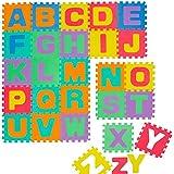 Alfombra Puzle para Niños | en Espuma EVA | Alfombra Infantil para Jugar | con Letras Alfabeto Desmontables