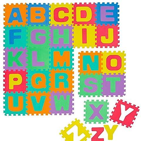 Puzzlematte Spielmatte Alphabet 61-tlg. Spielteppich Schaumstoff Puzzle Kinderteppich