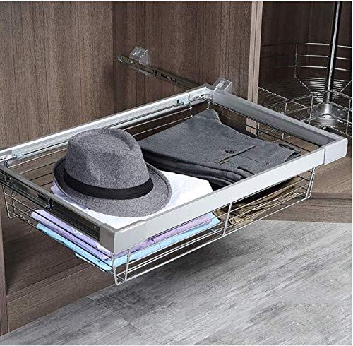 AZHom Einstellbare Pull Out-Draht-Speicher-Korb, Schrank-Speicher-Organisator, Teleskop Coat Schublade for Küche (450-899mm) (Größe: 349x455x175mm) (Size : 649x455x175mm) -