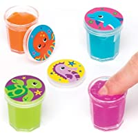 Sea life Buddies Slime Putty (Pack Of 8) For Kids Party Bag Fillers
