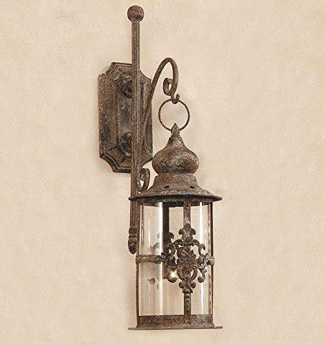 Antik Stil Laterne (Laterne Antik - Stil / Ornament mit Wandhalterung Wandlaterne Windlicht)