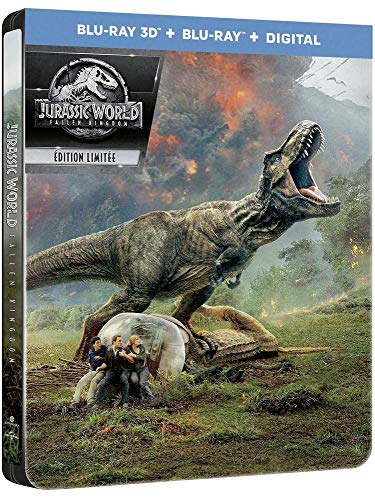 Jurassic World: Fallen Kingdom [Blu-ray 3D] [Combo Blu-ray 3D + Blu-ray + Digital - Édition boîtier SteelBook]