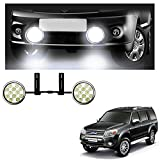 #8: Vheelocityin 4 Inch 24 LED Car Foglight Lamp with Frame and Clamp Auxuliary Light For Ford Endeavour Old