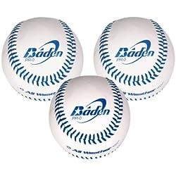 Baden 846GBPRO/3 - Pelota de béisbol ( pack de 3, tamaño oficial, cuero )