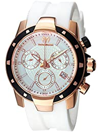 Technomarine Men's 'UF6' Quartz Gold and Silicone Casual Watch, Color:White (Model: TM-615006)
