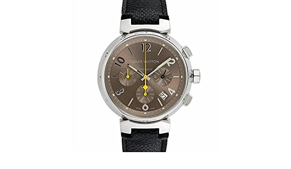 f20c9bcfc635 Louis Vuitton Tambour Chronograph swiss-automatic mens Watch Q1122  (Certified Pre-owned)  Louis Vuitton  Amazon.co.uk  Watches