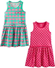 Simple Joys by Carter's 2-Pack Short-Sleeve and Sleeveless Dress Sets Niñas, Pack