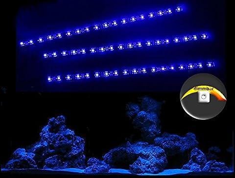 creative lights AQUARIUM MONDLICHT, LED LICHTLEISTE 3 x 30 CM + DIMMER FLEXI-SLIM BLAU KOMPLETTSET
