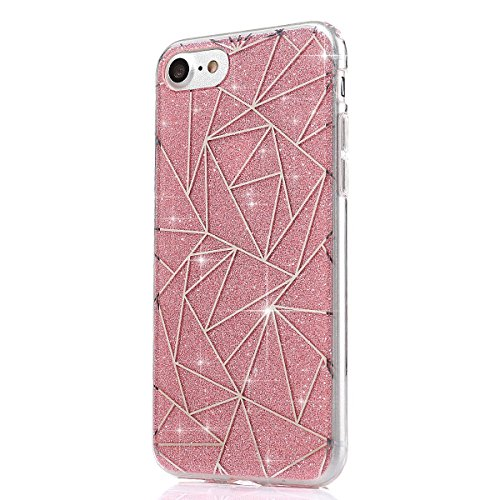 JAWSEU Coque Etui pour iPhone 6 Plus/6S Plus 5.5,iPhone 6S Plus Plastique Coque Ultra Slim,iPhone 6 Plus Hard Case Pailletee Bling Housse Etui,2017 Neuf Luxury Design Femme Homme Fashion Ultra Mince T rose**