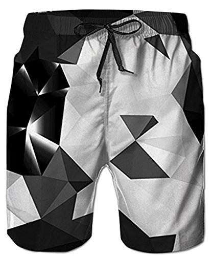 Idgreatim Männer Strand Shorts 3D Diamant Print Lustige Lounge Tragen Hosen Surfen Shorts Pyjama Bottoms Jogger Hosen M (Tragen Shorts)