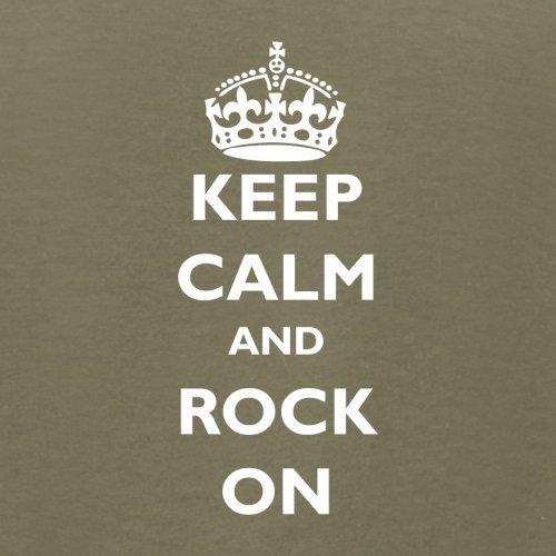 Keep calm and Rock On - Herren T-Shirt - 13 Farben Khaki