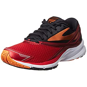 Brooks Launch 4, Scarpe da Corsa Uomo, Rosso (Highriskred/Black/Orangepeel), 44.5 EU