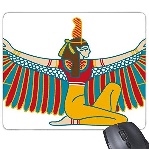 Ägypten Abstrakte dekorative Muster-Opfer-Fliegen-Göttin-Kunst Muster Rechteck Griffige Gummi Mousepad Spiel-Mausunterlage ()