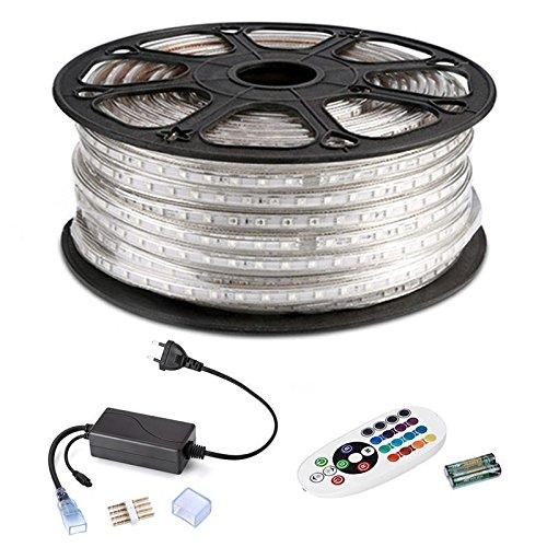 CLE LED Lichtschlauch RGB Set 50m 5050 SMD LEDs 3000K Superhell Wasserdicht Dimmbar für indirekte Beleuchtung