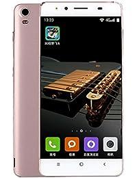 "Teléfono Inteligente Xinan Smartphone 5 ""Ultrathin Android4.4 Octa-Core 4G + 2G 2G / GSM WiFi Bluetooth Cámara Dual SIM Dual Teléfono celular inteligente (☆Oro rosa)"