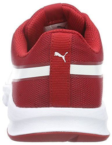 Puma Flexracer, Sneakers basses mixte adulte Rot (Barbados Cherry-puma White 15)