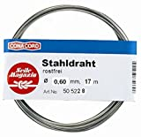 17m Stahldraht aus Edelstahl, Ø 0,6 mm