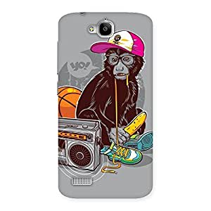 Delighted Monkey Music Back Case Cover for Honor Holly