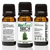 biofinest Birke Öl–100% Pure Birke Öl–Fight Arthritis, Muskel & Gelenk Paint–PREMIUM QUALITÄT–Therapeutische Grade–Beste für Aromatherapie–GRATIS E-Book