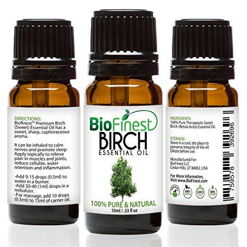 biofinest Birke Öl–100% Pure Birke Öl–Fight Arthritis, Muskel & Gelenk Paint–PREMIUM QUALITÄT–Therapeutische Grade–Beste für Aromatherapie–GRATIS E-Book (Natürlichen Minze-mundwasser)