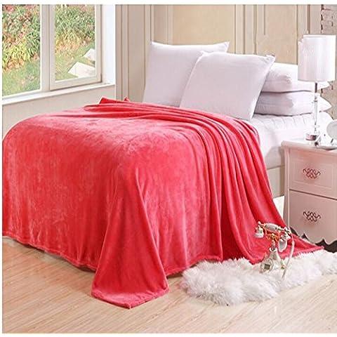 HHYWS Morbido e caldo buttare letto divano buttare coperta color