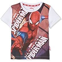 Marvel T-Shirt Spiderman, Camiseta para Niños, Rojo, 3
