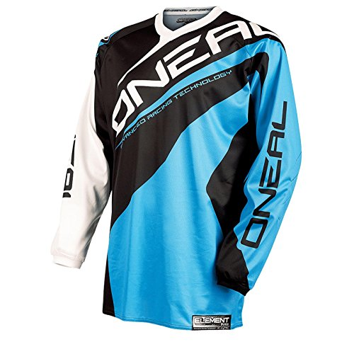 O\'Neal Element Jersey RACEWEAR Trikot Blau Moto Cross Mountain Bike Enduro MTB MX DH FR, 0024R-0, Größe Large
