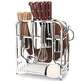 SSRS Forniture in Tessuto da Cucina in Acciaio Inox con Porta Coltello E Tagliere Tubo di Bacchette Mensola della Cucina