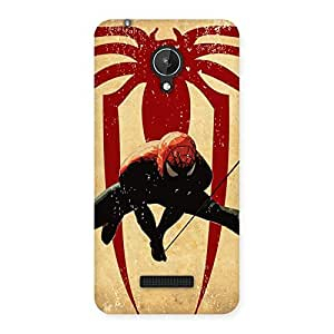 Stylish Hanging Web Multicolor Back Case Cover for Micromax Canvas Spark Q380