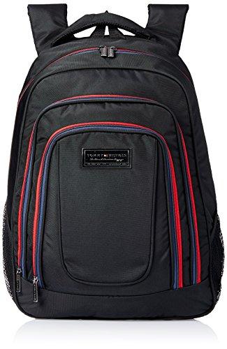 Tommy Hilfiger Jackson Polyester Black Laptop Bagpacks (TH/JAK01BP0314)