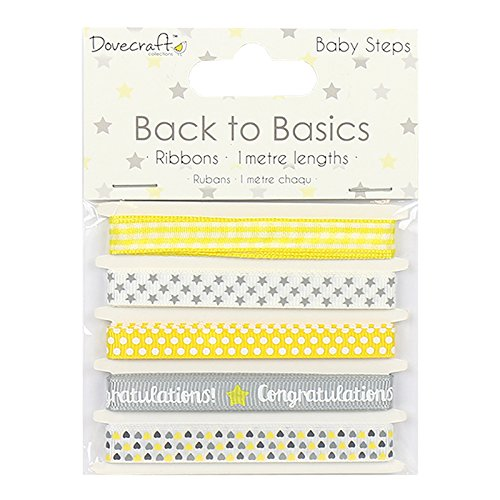 dovecraft-back-to-basics-baby-steps-card-craft-embellishment-ribbon-pack