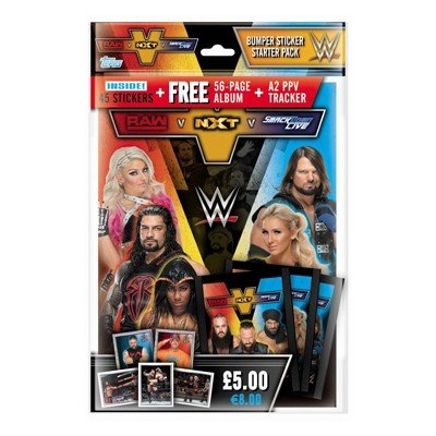 Topps WWE Raw v NXT v Smackdown Live Sticker Starter Pack (Album)