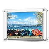 Acryl Bilderrahmen, Doppelte Panel Clear Wandhalter Bilderrahmen hält 32 x 23 cm Bilder