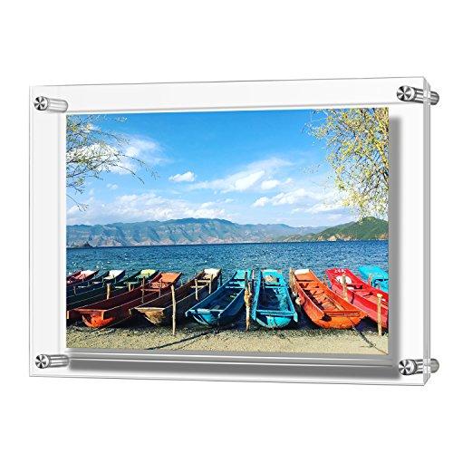 Cadre acrylique, Panneau double Panneau décoratif Cadres photo Supports 32 x 23 cm Photos