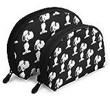 Snoopy (3) Make-up-Taschenset für Reisen und den täglichen Gebrauch, Muschelform, handliche...