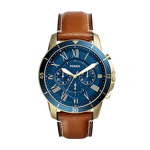 13. Fossil Analog Blue Dial Men's Watch-FS5268