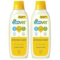ecover All Purpose Cleaner 1L 1 Litre - Lemon Grass & Ginger Scent - Eco Friendly Household Cleaner - Great for Ceramic Tiles, Kitchen worktops, Hardwood & Parquet Flooring. 1