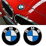 DigHealth 2 Stück 82mm Emblem Motorhaube oder Heckklappe Blau & Weiß Logo für BMW, Haube Logo Vorne Hinten Motorhaube Kofferraum für BMW E36 E39 E46 E60 E70 F10 X5 X6