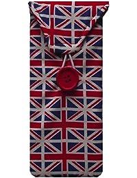 De bandera de Reino Unido diseño de margaritas funda para gafas de la bandera de