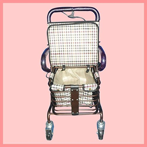 Shopping Cart metallo pieghevole vecchio carrello carrello Homz pieghevole Tote carrello (reticolo) , b